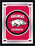 Holland Bar Stool Company NCAA Arkansas Razorbacks Logo Mirror, 17 X 22-Inch