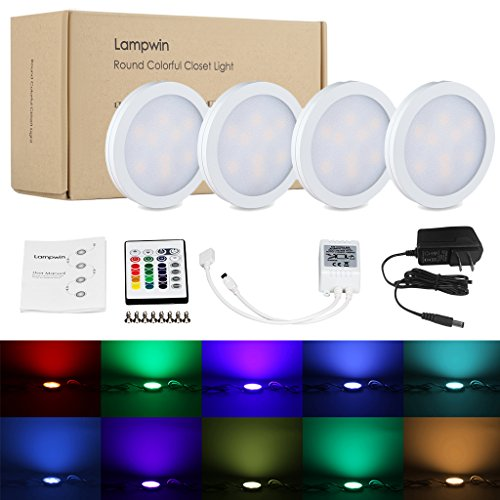 Cheap  LED Under Cabinet Lighting - 4Pack Lampwin 2017 New Dimmable RGB Kitchen..