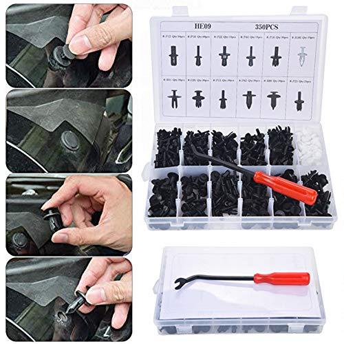 Alalaso Body Plastic Push Rod Rivet 350PCS Fastener Decorative Die Clamp Screwdriver