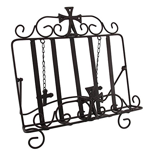 Wrought Iron Cookbook Holder (Wrought Iron Gothic Cross Bible Holder Easel Stand)
