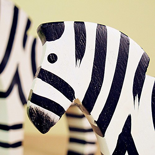 BWLZSP 1 pair Simple Classic Country Style Nordic Log Decorations Oban Set Two Raw Wood Zebras LU620118 by BWLZSP (Image #2)