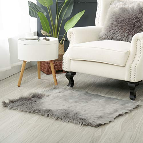 Reafort High Pile Super Soft Faux Sheepskin, Faux Fur Rug, Chair Cover, Sofa Cover Rectangle(24
