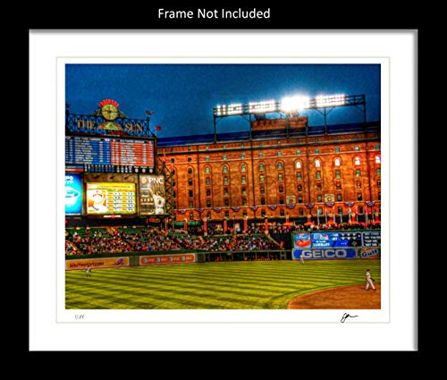 Baltimore Orioles Wall Decor Art Print. Home Décor Painting Memorabilia. Camden Yards. Gift Idea For Any Fan Men Women Father's Day Birthday Bedroom Home Bathroom Man Cave. 8x10. Frame Not Incl.