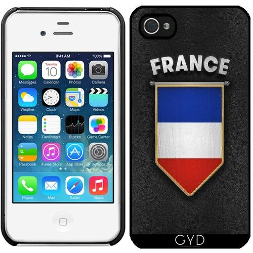Coque pour Iphone 4/4S - France Fanion Drapeau by Carsten Reisinger