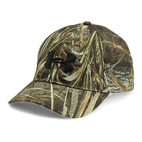 Under Armour Men's Camo 2.0 Cap, Realtree Max 5/Black, One Size (Hat Realtree Camo Adjustable)
