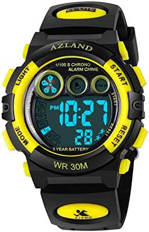 Outdoors Sports Multifunctional Luminous Waterproof Kids Watches for Girls Boys