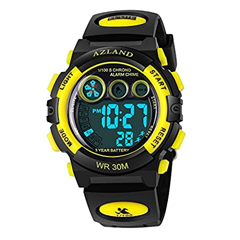 Outdoors Sports Multifunctional Luminous Waterproof Kids Watches for Girls Boys (Multifunctional Watch)