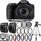 Canon PowerShot SX540 HS Digital Camera + 67mm Wide & Telephoto Lens + UV CPL ND filter + Macro Kit + Color Filters + LED Light + Tall Tripod