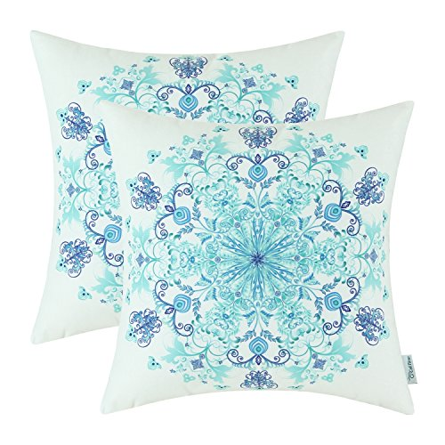 light blue and white throw pillow - 6