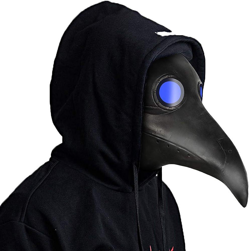 molezu Plague Doctor Costume Halloween Costumes Party Long Nose Bird Beak Gothic Cosplay Props
