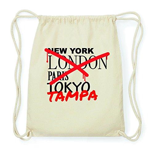 JOllify TAMPA Hipster Turnbeutel Tasche Rucksack aus Baumwolle - Farbe: natur Design: Grafitti