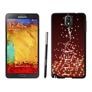 Note 3 Case,Dreamlike Bright Stars Christmas Tree TPU Black Samsung Galaxy Note 3 Cover Case,Note 3 Cover Case