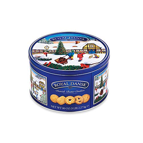 Cookie Tin Snowman (Royal Dansk Danish Butter Cookie Assortment, 5 lbs.)