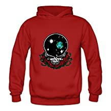 Crystal Men's Grateful Dead Long Sleeve Jacket Red US Size M