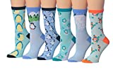 penguin pack - Tipi Toe Women's 6-Pairs Value Pack Penguin Novelty Animal Design Funky Winter Socks, (sock size 9-11) Fits shoe size 5-9, WC52-B