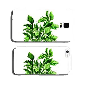 watercolor celery isolated on white cell phone cover case Samsung S5