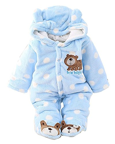 - C&M Baby Jumpsuit Outfit Hoody Coat Winter Infant Rompers Toddler Clothing Bodysuit ...