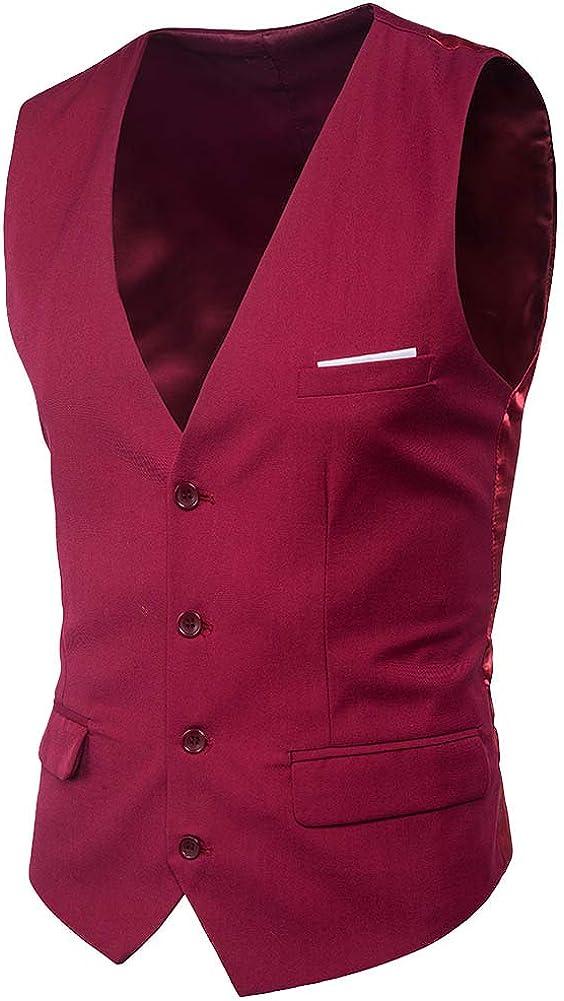 Chaleco Traje de los Hombres Cuello En V Sin Mangas Collar Chalecos Slim Fit Blazer Chaleco Traje de Boda 9 Colores