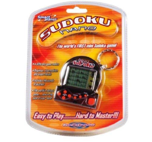 (Sudoku Nano Mini Sudoku Game with Keychain, Color Varies)