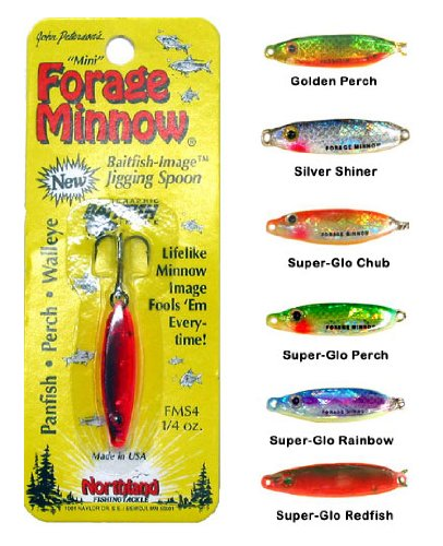 Northland Tackle FMS4-11 Forage Minnow Spoon Bait, Silver Shiner, 1/4 oz