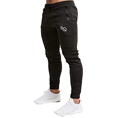 Amazon.com: SEpXM Mens Gyms Fashion Trousers Casual Pencil ...