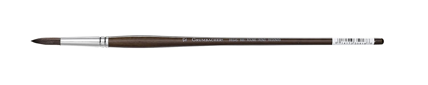 GRUMBACHER Degas Oil & Acrylic Brushes, 10 Round (930R10G) Cell Distributors