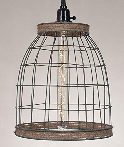 Wire Basket Pendant Lighting