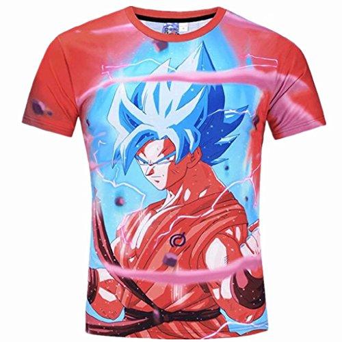Young Men and Big Boys Cartoon T Shirt Fashion 3D Printed Tee Shirts