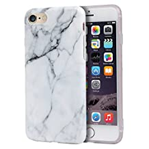 iPhone 6s Plus Case, Imikoko™ Hard Case Print Crystal for iPhone 6s Plus (5.5 inch Display) - White Marble Pattern Slim Fit Snap On Hard Shell Back Case For iPhone 6/6S Plus (White Jade)