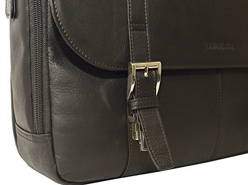 Samsonite Colombian Leather Flapover Case (Black/Chrome) by Samsonite (Image #4)