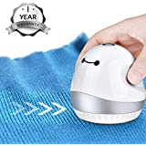 MOSPRO Electric Sweater Fabric Shaver Lint Remover - Rechargeable and Portable Fuzz Pill Bobble Remover with Dual Protection for Clothes Sweater Fleece Wool Blanket Curtain (white)