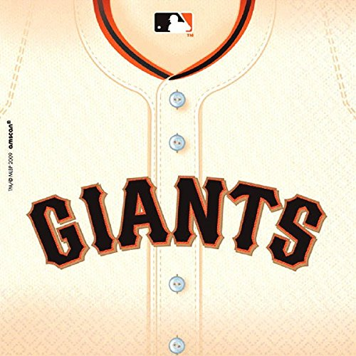 Sports and Tailgating MLB Party San Francisco Giants Luncheon Napkins Tableware, Paper, 6