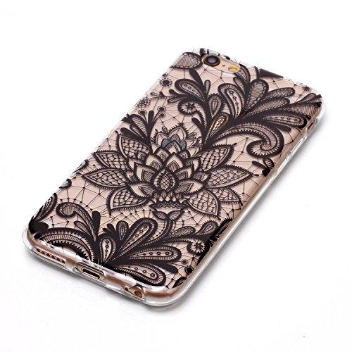 Coque Etui iPhone 6 6S , Leiai Cactus Silicone Gel Case Avant et Arrière Intégral Full Protection Cover Transparent TPU Housse Anti-rayures pour Apple iPhone 6 6S