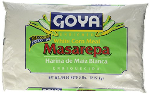 Goya Flour - Goya Foods 5075 Masarepa Pre-Cooked White Corn Meal, 5 Pound