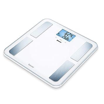 Beurer BF850 - Báscula de baño diagnóstica superficie con extragrande, conexión entre Smartphone y báscula