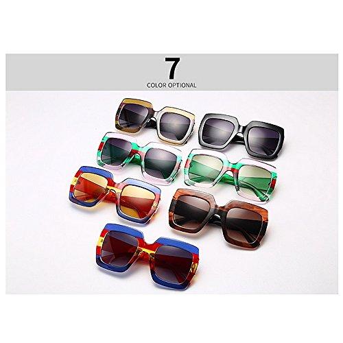 Las Sol Ultravioleta protección de Mujeres de Ojos la del Las Irregulares de Verano de para la Vacaciones Personalidad Playa de de para Godbb del Conducir Moda Proteccion Lentes C3 polígono Tonos la 6wTZXZq