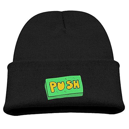 Engchengx Push Button Children's Knit Cap Black