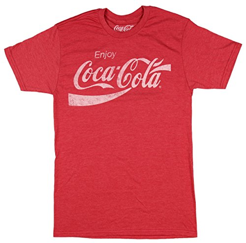 Coca-Cola Men's Coke Classic, Red Heather, 2XL