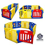 Kidzone Interactive Baby Playpen 8 Panel Safety Gate Children Play Center Home Child Activity Pen ASTM Certified Pink