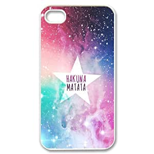 Painting art Hakuna Matata Hard Plastic phone Case Cover+Gift keys stand For Iphone 4 4S case cover ZDI064157