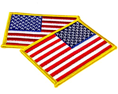 - 2 Pack USA US American Flag Embroidered Patch - 3.5