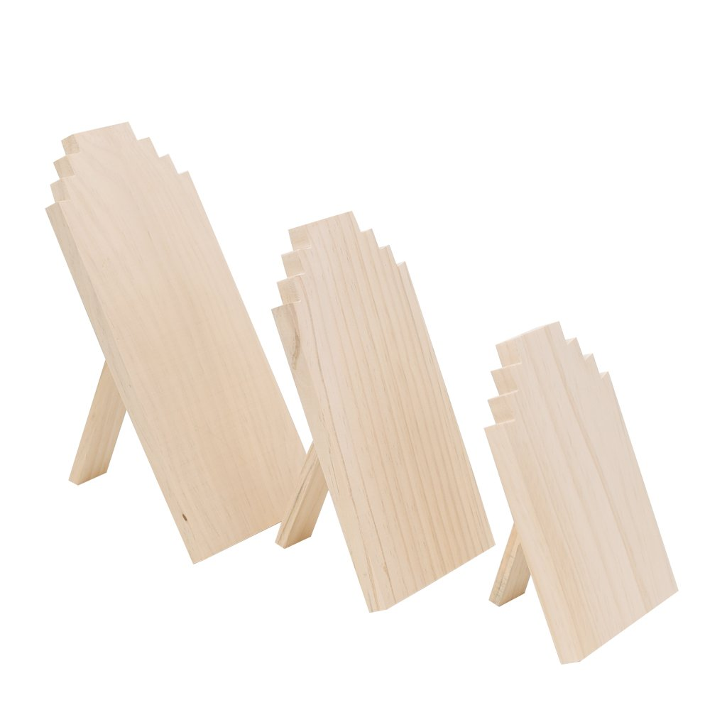 Dovewill Unfinished Wood Wooden Display Stands Necklace Holder Jewelry Display Board Rack 3 Sizes - Small by Dovewill (Image #8)