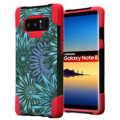 (Galaxy Note 8 Case, Capsule-Case Hybrid Fusion Dual Layer Shockproof Combat Kickstand Case (Black & Red) for Samsung Galaxy Note8 SM-N950 - (Oval)