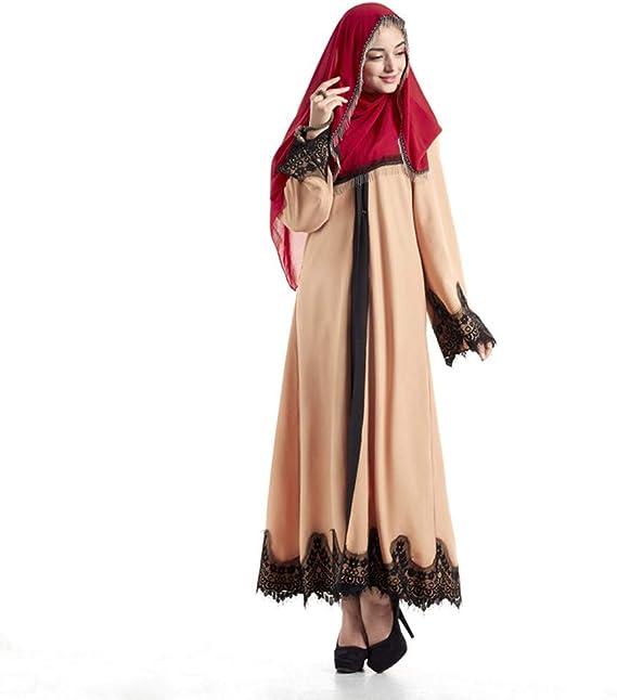 Elegant Muslim Abaya Dress For Women Cardigan Robe Islamic Prayer Clothing Amazon Ca Clothing Accessories