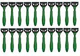 Schick Xtreme3 Disposables Razors Sensitive Vitamin E & Aloe, Green Lot of 20 Bulk Packaging