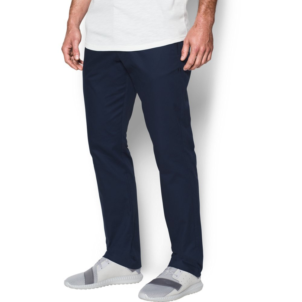 Under Armour Men's Performance Tapered Leg Chino, Midnight Navy (410)/Midnight Navy, 30/32