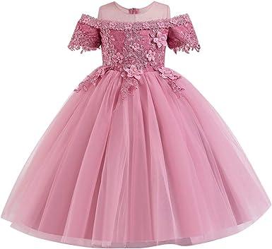 Flower Girls Princess Long Dress Girls Party Wedding Prom Bridesmaid Gown MG