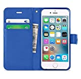 iPhone 6/6s Case, DN-Alive Wallet - Book Case, Flip Case Flexible PU Premium Leather [Black] [Card Holder] iPhone 6/6s Cover - Id Holder [Drop Resistance] [Scratch Resistant] [Shockproof (Blue)