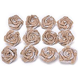 Burlap Wedding - 5pcs Vintage Handmade Burlap Flower Artificial Roses Hessian Jute Wedding Party Home Decoration - Navy Wedding Blush Girl Dusty Vine Flower Arrangements Gold Dahlia Bouquet Breat 111