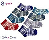 Foxy Fane Cute Soft & Cozy Cotton Baby Socks [3 - 12 Months - 8 Pack]